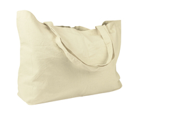 Grand sac à soufflet en coton écru - Supports tissus – 10doigts.fr - 2