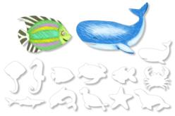 Grandes formes d'animaux à colorier : Animaux de la mer