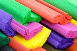 Feuilles de papier crépon, 10 couleurs assorties - Papiers de crépon – 10doigts.fr - 2