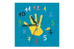 Horloge carrée en bois - Horloges en bois – 10doigts.fr - 2
