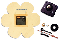 Horloge fleur en bois - Horloges en bois – 10doigts.fr - 2