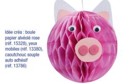 Boules de papier alvéolé rose - 4 pièces - Ballons, guirlandes, serpentins – 10doigts.fr - 2
