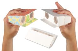 Jumelles de poche à décorer - Support blanc – 10doigts.fr