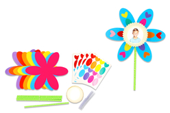 """Kit fabrication fleurs cadre photos - 12 fleurs - Kits activités """"Cadeau à offrir"""" – 10doigts.fr - 2"""