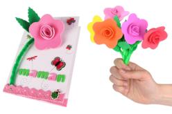 Kit 6 fleurs en caoutchouc souple