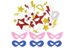 Kit création masques Super-héros - 6 masques - Masques – 10doigts.fr - 2