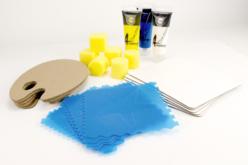 Kit peinture et pochoirs Océan - Pour 5 personnes - Kits activités clés en main – 10doigts.fr