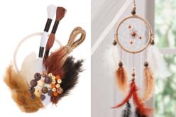 Kit attrape-rêves - couleurs naturelles - Kits activités clés en main – 10doigts.fr