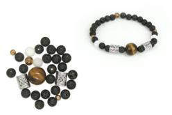 Kit bracelet Oeil de Tigre - Lithothérapie / Bracelets chakras – 10doigts.fr - 2