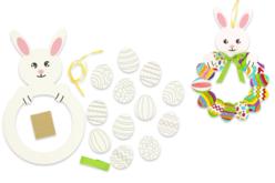Couronne de Pâques lapin et œufs - Kits activités de Pâques – 10doigts.fr - 2