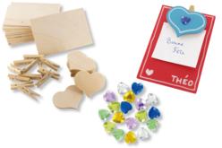 Mémos cœurs - Kit pour 12 réalisations - Mémo et magnet – 10doigts.fr