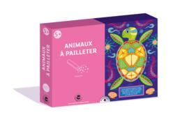 Coffret Animaux - 3 tableaux à pailleter - Paillettes à saupoudrer – 10doigts.fr
