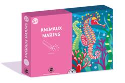 Coffret Animaux marins- 3 tableaux à pailleter - Coffret Tableau à Paillettes – 10doigts.fr