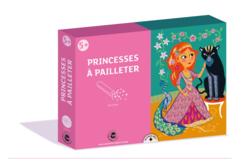 Coffret Princesses - 3 tableaux à pailleter - Coffret Tableau à Paillettes – 10doigts.fr