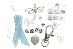 """Kit pour fabriquer un porte-clés """"LOVE"""" - Bijoux, bracelets, colliers – 10doigts.fr - 2"""