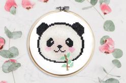 "Kit tableau ""Peinture Diamant"" panda - Broderie Diamant – 10doigts.fr"