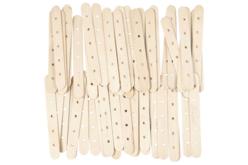Bâtons en bois avec trous - Bâtonnets, tiges, languettes – 10doigts.fr - 2