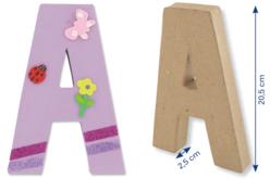 Lettres en carton papier mâhché - Lettres et Formes – 10doigts.fr - 2