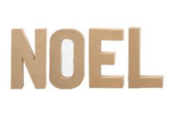 """Lettres """"NOEL"""" en carton papier mâché - Lettres et Formes – 10doigts.fr - 2"""