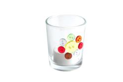 Boutons transparents multicolores - 300 pièces - Boutons – 10doigts.fr - 2