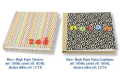 Magic Paper auto-adhésif Chevrons - Washi paper / Magic paper – 10doigts.fr - 2