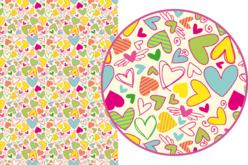 Magic Paper auto-adhésif Coeurs fous