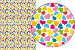 Magic Paper auto-adhésif Coeurs multicolores