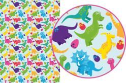 Magic Paper auto-adhésif Dinosaures - Magic Paper – 10doigts.fr