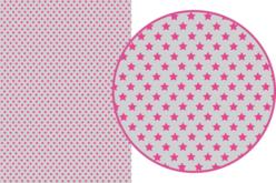 Magic Paper auto-adhésif Etoiles roses sur fond gris
