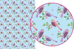 Magic Paper auto-adhésif Oiseaux