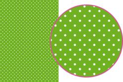 Magic Paper auto-adhésif Pois blancs sur fond vert