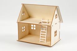 Maison en bois naturel à monter - Maquettes en bois – 10doigts.fr - 2