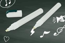Feutres marqueurs craies blancs - Lot de 2 pièces - Craies, tableaux, ardoises – 10doigts.fr - 2
