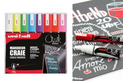 Marqueurs craie POSCA - 8 couleurs assorties - Craies, tableaux, ardoises – 10doigts.fr