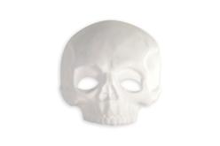 Demi masque tête de mort - Halloween – 10doigts.fr - 2