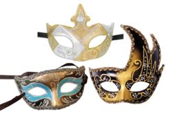 Masques vénitiens rigides - 3 modèles - Masques – 10doigts.fr - 2