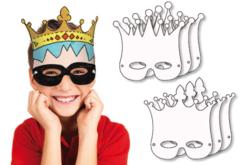 Masques pré-dessinés à colorier - Mardi gras, carnaval – 10doigts.fr - 2