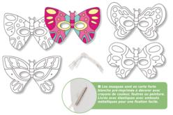 Masques papillons à décorer - Set de 4 - Mardi gras, carnaval – 10doigts.fr - 2