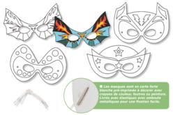 Masques super héros à décorer - Set de 4 - Mardi gras, carnaval – 10doigts.fr - 2