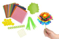 Kit création de fleurs en papier de soie - 12 réalisations - Kits activités clés en main – 10doigts.fr - 2