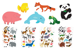 Maxi gommettes animaux - 4 planches - Gommettes Animaux – 10doigts.fr - 2