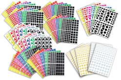 Gommettes assorties - Set de 7000 - Gommettes Formes Géométriques – 10doigts.fr