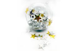 Grandes paillettes étoiles holographiques or et argent - Set de 140 paillettes - Paillettes fantaisie – 10doigts.fr - 2