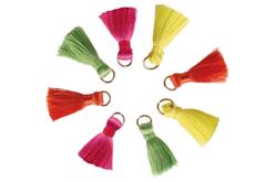 Mini-pompons couleurs fluo