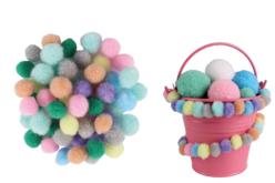 Mini-pompons couleurs pastel - Set de 200 - Pompons – 10doigts.fr - 2