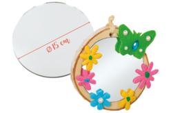 miroir en verre rond