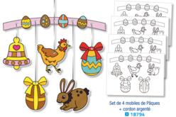 Mobile à colorier : Pâques