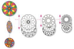 Mobiles Mandala à décorer - Supports pré-dessinés – 10doigts.fr - 2