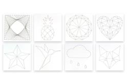 String Art - 8 Modèles perforés - String Art – 10doigts.fr