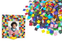 Mosaïques en carte forte - 5000 pièces - Mosaïques en papier, carton et mousse – 10doigts.fr